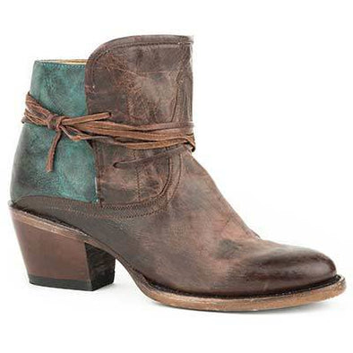 Women's Stetson Minx Leather Boots Handcrafted - yeehawcowboy