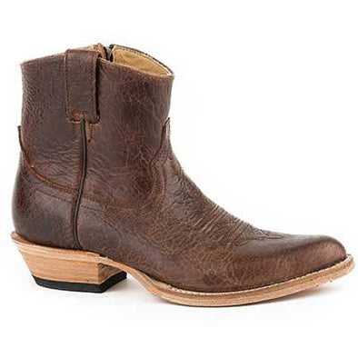 Women's Stetson Toni Bison Leather Boots Handcrafted - yeehawcowboy