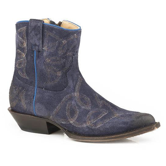Women's Stetson Collins Leather Boots Handcrafted Blue - yeehawcowboy