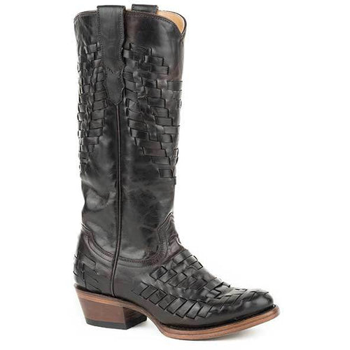 Women's Stetson Paola Leather Boots Handcrafted - yeehawcowboy