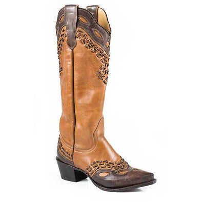 Women's Stetson Alexa Leather Boots Handcrafted - yeehawcowboy