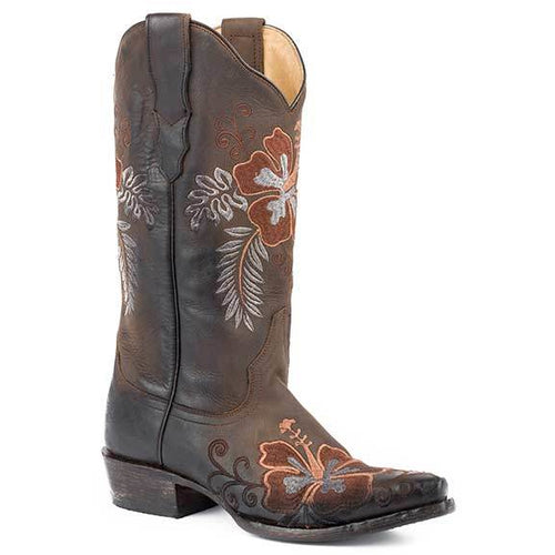 Women's Stetson Aloha Leather Boots Handcrafted - yeehawcowboy
