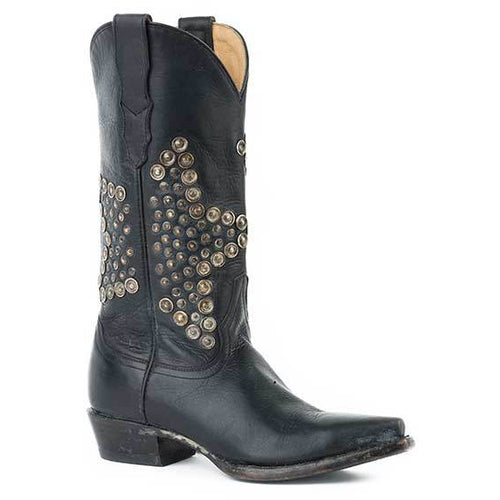 Women's Stetson Starlet Leather Boots Handcrafted - yeehawcowboy