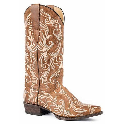 Women's Stetson Willow Boots Snip Toe Handcrafted - yeehawcowboy