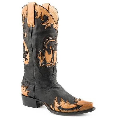 Women's Stetson Faye Leather Boots Handcrafted - yeehawcowboy