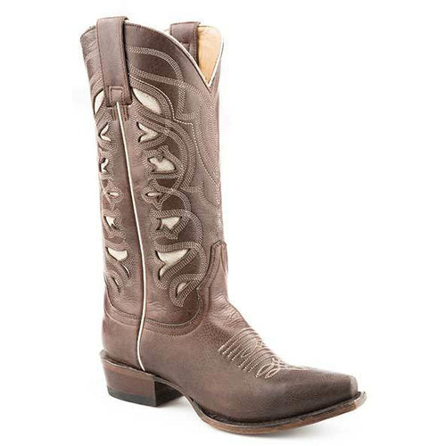 Women's Stetson Demi Leather Boots Handcrafted - yeehawcowboy