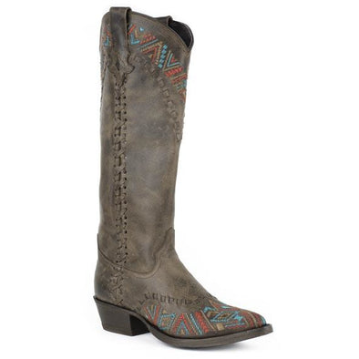 Women's Stetson Doli Leather Boots Handcrafted - yeehawcowboy