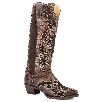 Women's Stetson Ande Boots Snip Toe Handcrafted - yeehawcowboy