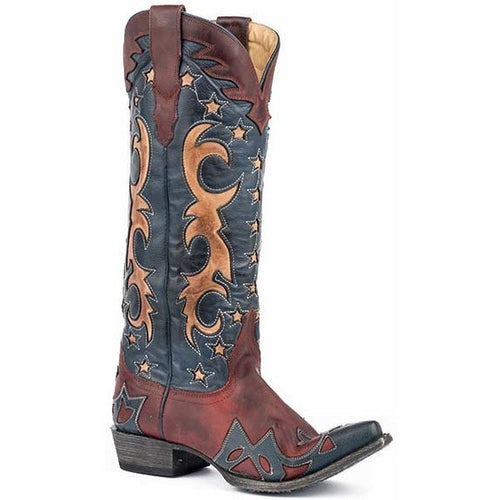 Women's Stetson America Boots Snip Toe Handcrafted - yeehawcowboy