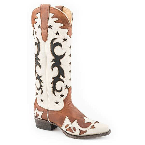 Women's Stetson Liberty Leather Boots Handcrafted - yeehawcowboy