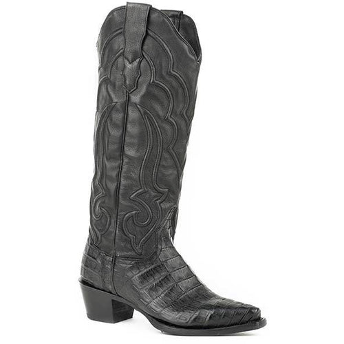 Women's Stetson Talita Caiman Boots Handcrafted - yeehawcowboy