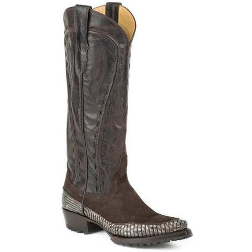 Women's Stetson Dakota Boots Knee High Snip Toe Handmade - yeehawcowboy
