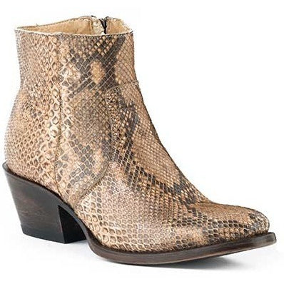Women's Stetson Venice Python Boots Round Toe Handcrafted - yeehawcowboy