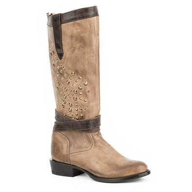 Women's Stetson Angel Leather Boots Handcrafted - yeehawcowboy