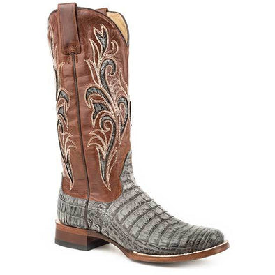 Women's Stetson Clarisa Caiman Belly Boots Handcrafted - yeehawcowboy