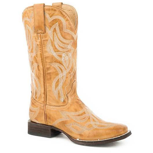 Women's Stetson Reese Leather Boots Handcrafted - yeehawcowboy