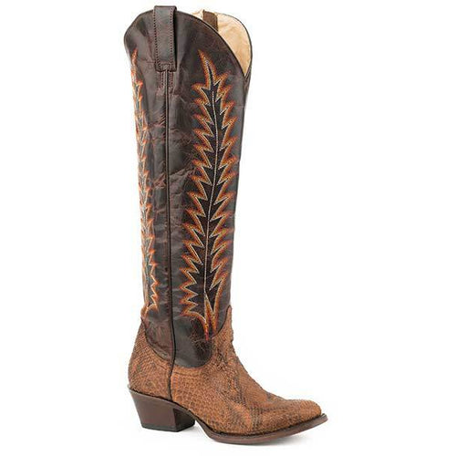 Women's Stetson Miley Python Boots Handcrafted - yeehawcowboy