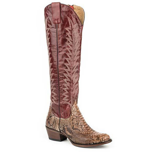 Women's Stetson Ruby Python Boots Handcrafted - yeehawcowboy