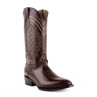 Men's Ferrini Apache Leather Boots Handcrafted Chocolate - yeehawcowboy