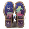 Kid's Tin Haul Unicorn Boots with My Ride Sole Handcrafted - yeehawcowboy
