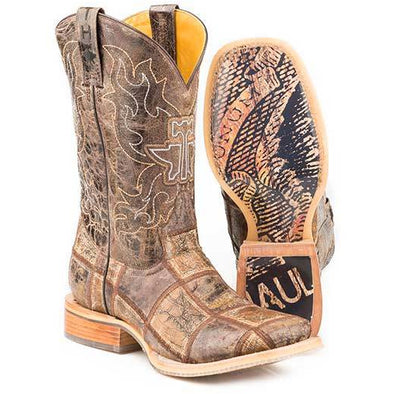 Men's Tin Haul Money Maker Boots With Bald Eagle Sole Handcrafted - yeehawcowboy