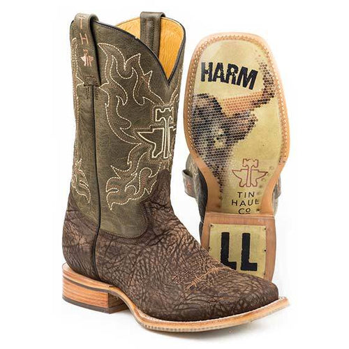 Men's Tin Haul Take No Bull Boots With Do No Harm Sole Handcrafted - yeehawcowboy