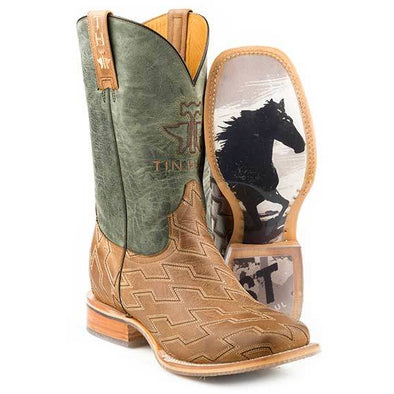 Men's Tin Haul Horse Power Boots With Ride Fast Sole Handcrafted - yeehawcowboy