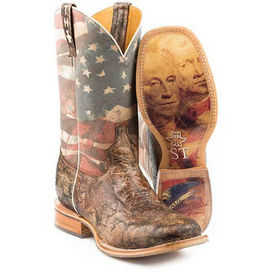 Men's Tin Haul Land Of The Free Boots With Presidential Sole Handcrafted - yeehawcowboy