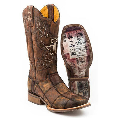 Men's Tin Haul Dead Or Alive Boots with Wanted Sole Handcrafted - yeehawcowboy