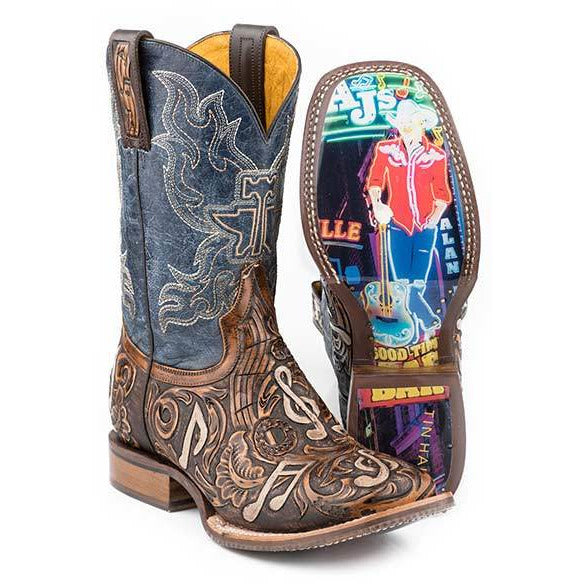 Men's Tin Haul Country Sound Boots Handcrafted - yeehawcowboy