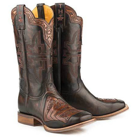 Men's Tin Haul 4 Kings Boots With Gambling Legend Sole Handcrafted Black - yeehawcowboy