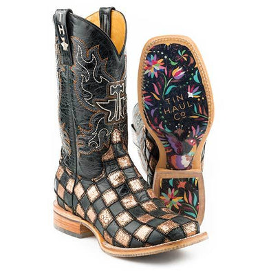 Women's Tin Haul Ooh La La Boots With Full Of Color Sole Handcrafted - yeehawcowboy