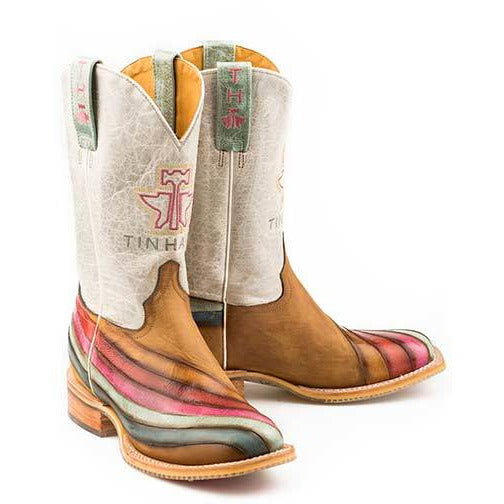 Women's Tin Haul Over The Rainbow Boots  With True Love Sole Handcrafted - yeehawcowboy