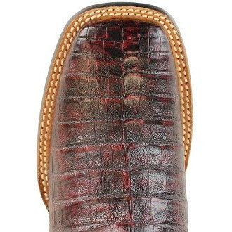 Men's King Exotic Wide Square Toe Caiman Belly Boots Handcrafted - yeehawcowboy