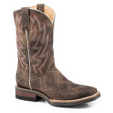 Men's Roper Garland Leather Boots Handcrafted - yeehawcowboy