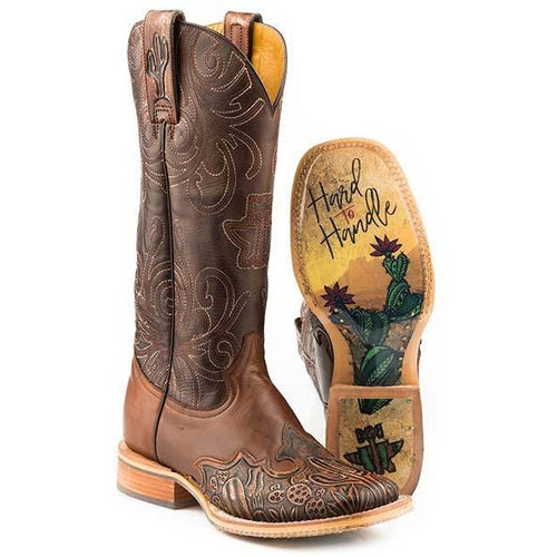 Women's Tin Haul Cactooled Boots With Hard To Handle Sole Handmade - yeehawcowboy