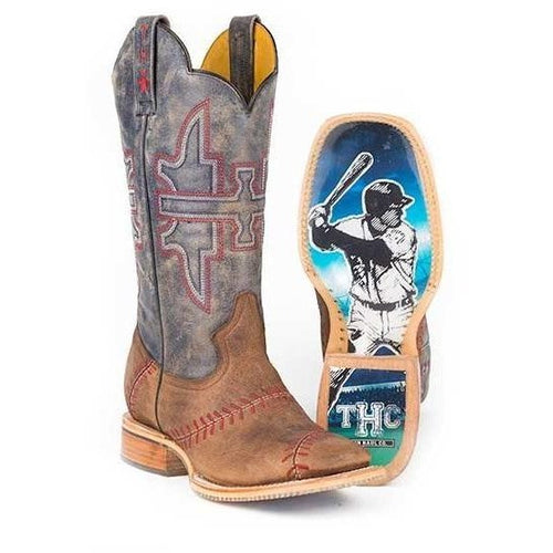 Men's Tin Haul Slugger Boots With Field Of Dreams Sole Handmade - yeehawcowboy