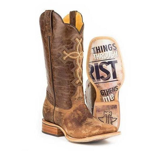 Men's Tin Haul Ichthys Aroundus Boots With 4:13 Sole Handcrafted - yeehawcowboy