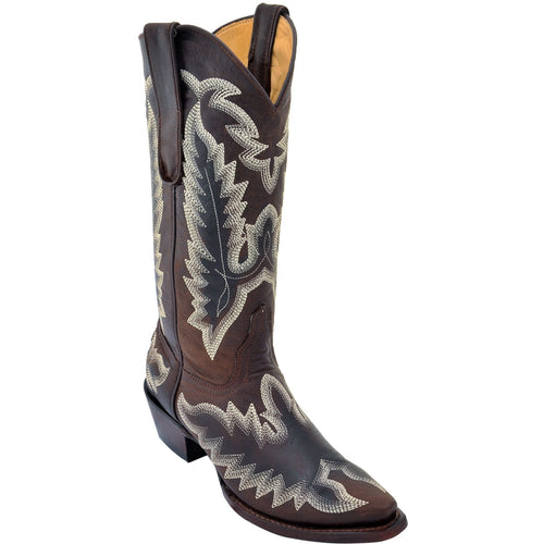 Women's Los Altos Snip Toe Leather Boots With Hand Embroidery