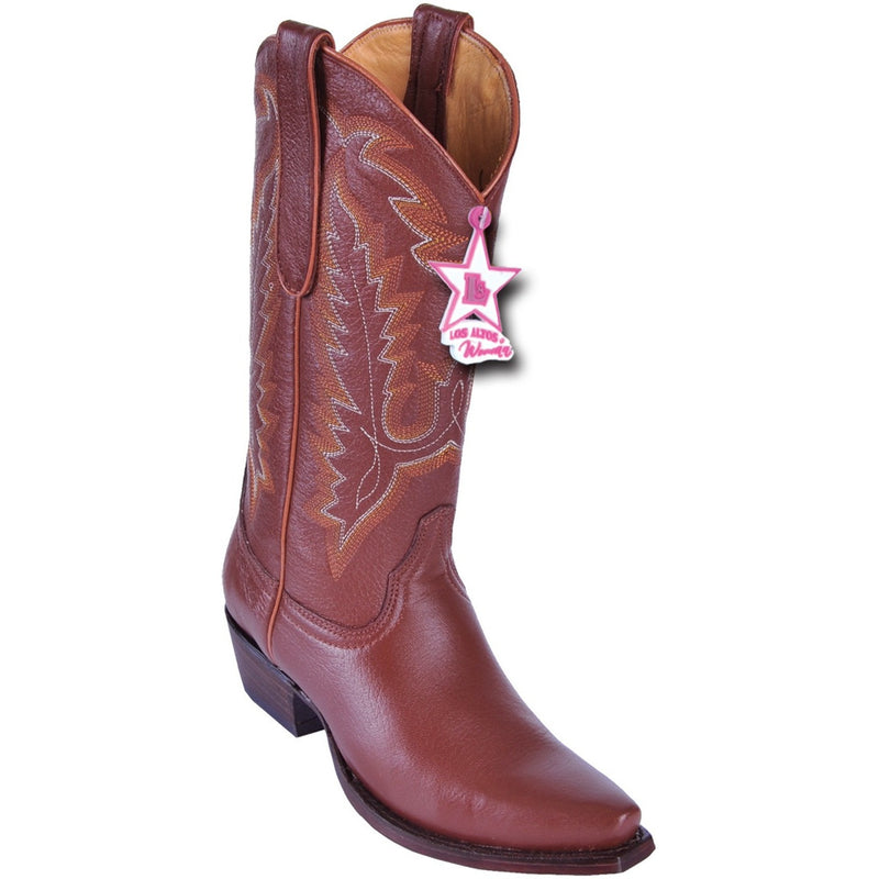 Women's Los Altos Snip Toe Deer Leather Boots Handcrafted