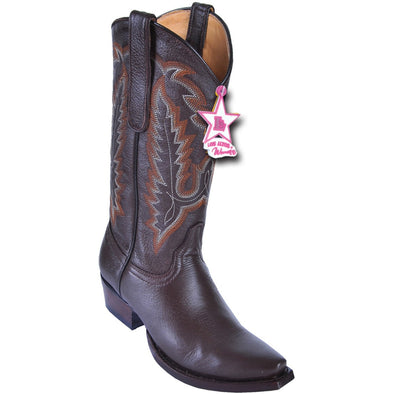 Women's Los Altos Snip Toe Deer Leather Boots Handcrafted - yeehawcowboy