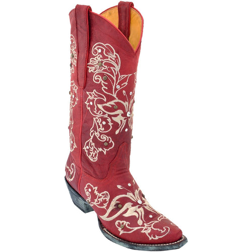 Women's Los Altos Boots With Hand Embroidery & Swarovski Stones