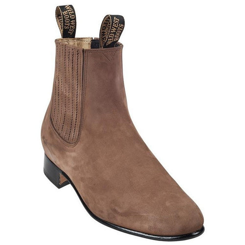 Men's Wild West Charro Suede Boots Handcrafted