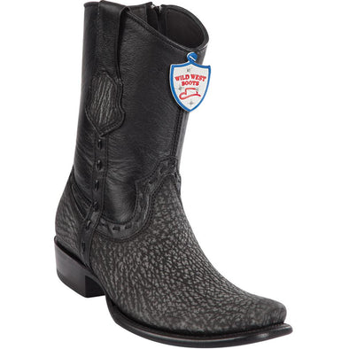 Men's Wild West Sharkskin Boots Dubai Toe Handcrafted - yeehawcowboy