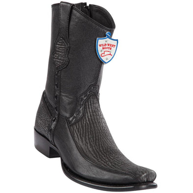 Men's Wild West Sharkskin With Deer Boots Dubai Toe Handcrafted - yeehawcowboy