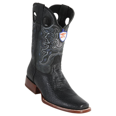 Men's Wild West Boots With Rubber Sole Genuine Leather Square Toe Handcrafted - yeehawcowboy