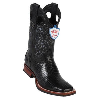 Men's Wild West Teju Lizard Boots Square Toe Handcrafted - yeehawcowboy