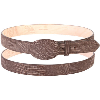 Wild West Teju Lizard Belt With Leather Lining And Removable Buckle Handcrafted - yeehawcowboy