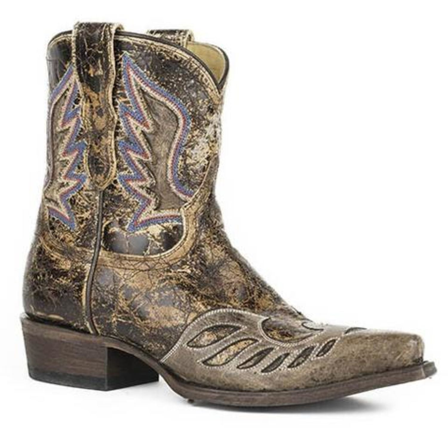 8e2c42f898b Women's Stetson Reagan Short Ankle Boots Snip Toe Handcrafted