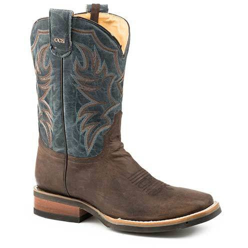 Men's Roper Marksman CCS Leather Boots Handcrafted - yeehawcowboy